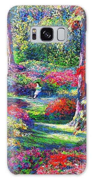 Floral Garden Galaxy Case - To Read And Dream by Jane Small