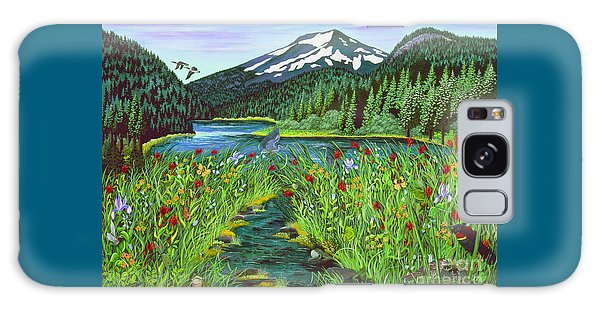 Todd Lake Mt. Bachelor Galaxy Case by Jennifer Lake