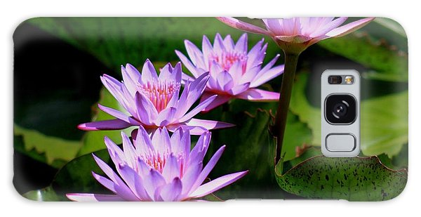 Together We Bloom - Violet Lily Galaxy Case