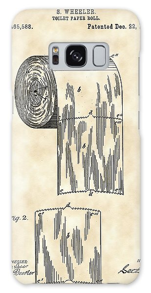 Toilet Paper Roll Patent 1891 - Vintage Galaxy Case by Stephen Younts