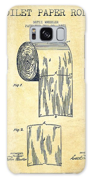 Patent Galaxy Case - Toilet Paper Roll Patent Drawing From 1891 - Vintage by Aged Pixel