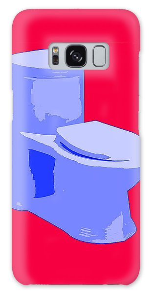 Toilette In Blue Galaxy Case