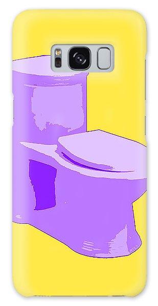 Toilette In Purple Galaxy Case