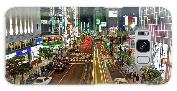 Tokyo Neon Streaks Galaxy Case by Jonah  Anderson