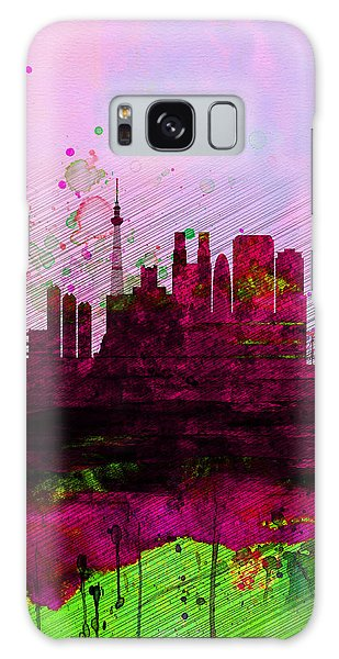 Tokyo Watercolor Skyline Galaxy Case by Naxart Studio