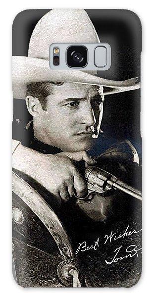 Tom Mix Portrait Melbourne Spurr Hollywood California C.1925-2013 Galaxy Case by David Lee Guss