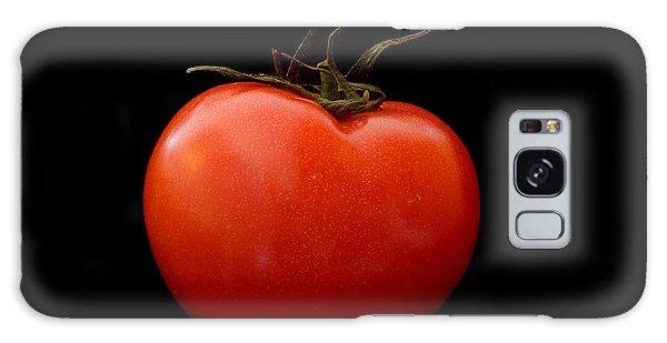 Tomato On Black Galaxy Case by Jeremy Voisey
