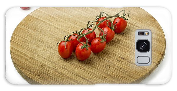 Tomatoes On Wooden Cutting Board Galaxy Case