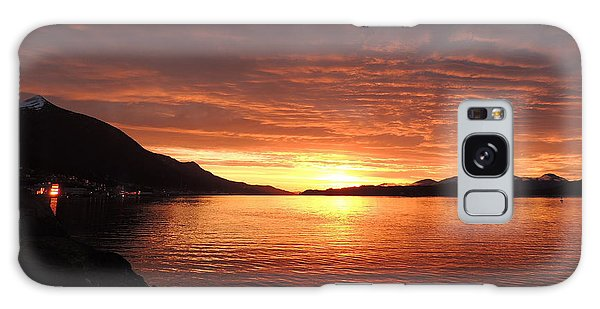 Tongass Narrows Sunrise On 12/12/12 Galaxy Case by Karen Horn