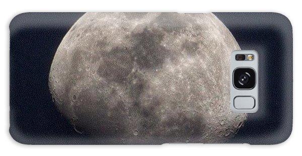 Tonight's Gibbous Moon #moon #night Galaxy Case