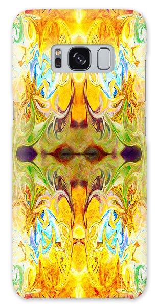 Galaxy Case featuring the digital art Tony's Tower Abstract Pattern Artwork By Tony Witkowski by Omaste Witkowski