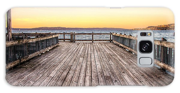 Top Of The Ocean Pier Galaxy Case by Rob Green