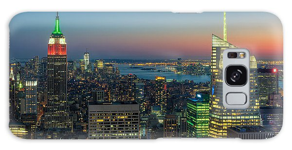 Top Of The Rock Twilight I Galaxy Case