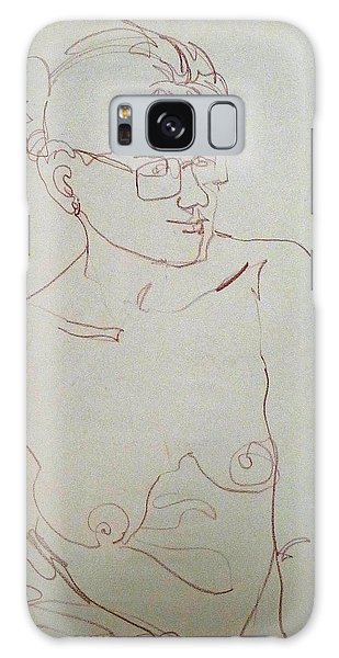 Topless Gal Wearing  Glasses Galaxy Case