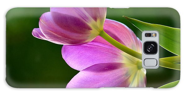 Topsy-turvy Tulips Galaxy Case by Deb Halloran