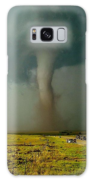 Tornado Truck Stop II Galaxy Case by Ed Sweeney