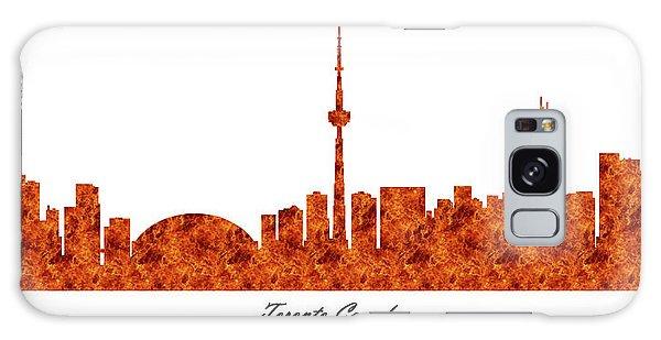 Toronto Canada Raging Fire Skyline Galaxy Case