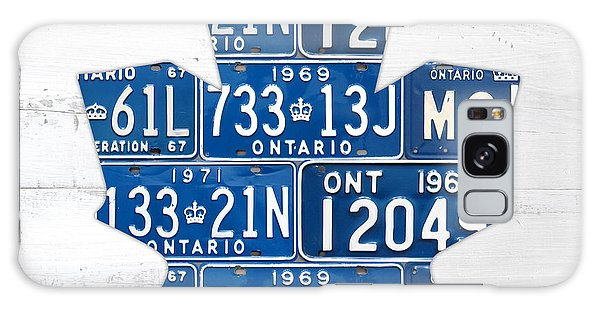 Maple Leaf Art Galaxy Case - Toronto Maple Leafs Hockey Team Retro Logo Vintage Recycled Ontario Canada License Plate Art by Design Turnpike