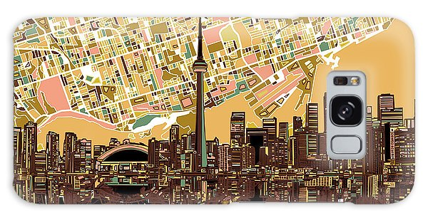 Toronto Skyline Abstract 9 Galaxy Case