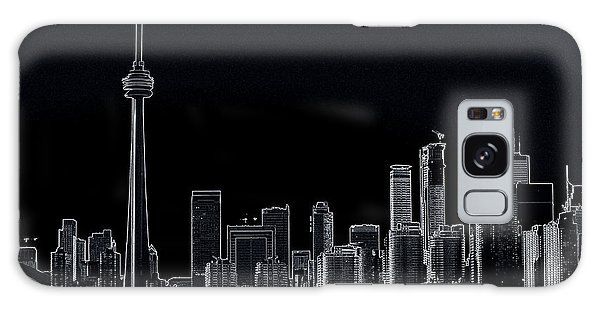 Toronto Skyline Black And White Abstract Galaxy Case