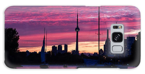 Toronto Skyline - The Boats Are Coming In Galaxy Case