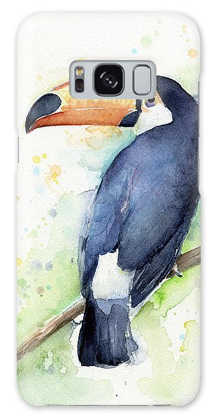 Toucan Watercolor Galaxy Case