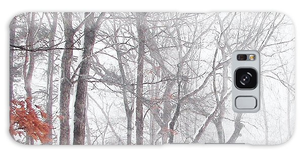 Touch Of Fall In Winter Fog Galaxy Case