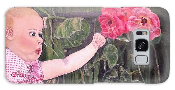 Touched By The Roses Painting Galaxy Case by Kimberlee Baxter