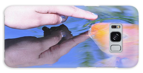 Touching The Koi.  Galaxy Case by Debby Pueschel