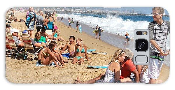 Tourist At Beach Galaxy Case
