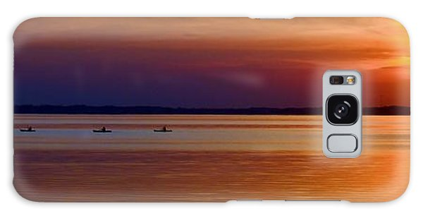 Tours End - Kayak Sunset Photo Galaxy Case