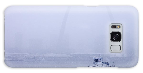 Towboat Working In The Snow St Louis Galaxy Case