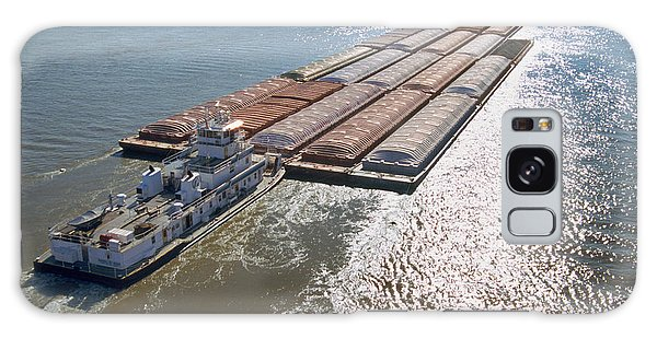 Towboats And Barges On The Mississippi Galaxy Case