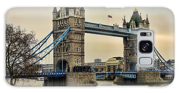Tower Bridge On The River Thames Galaxy Case by Heather Applegate