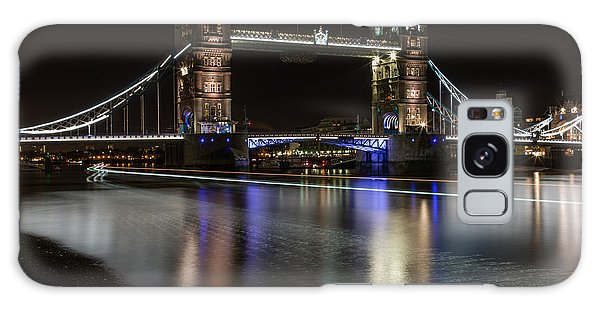 Tower Bridge With Boat Trails Galaxy Case