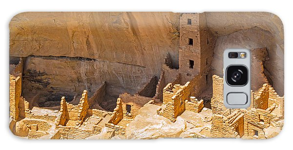 Tower House Panorama In Mesa Verde Galaxy Case