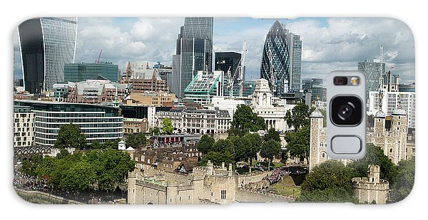 Tower Of London And City Skyscrapers Galaxy Case by Mark Thomas