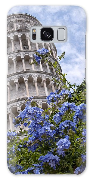 Tower Of Pisa With Blue Flowers Galaxy Case