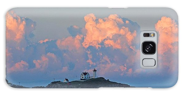Towering Clouds Over Nubble Lighthouse York Maine Galaxy Case