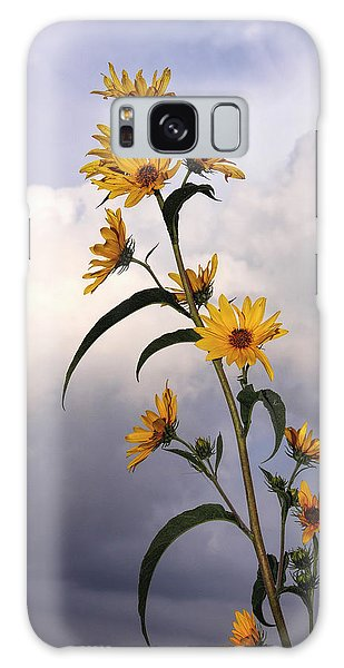 Towering Sunflowers Galaxy Case