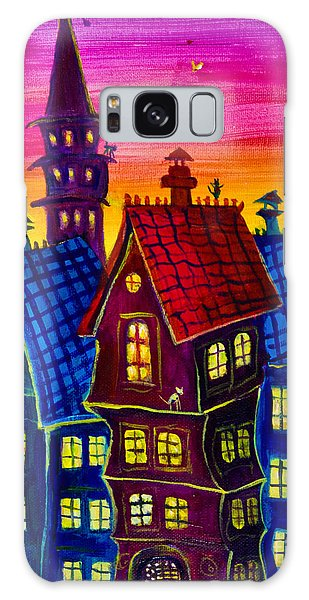 Town At Twilight Galaxy Case