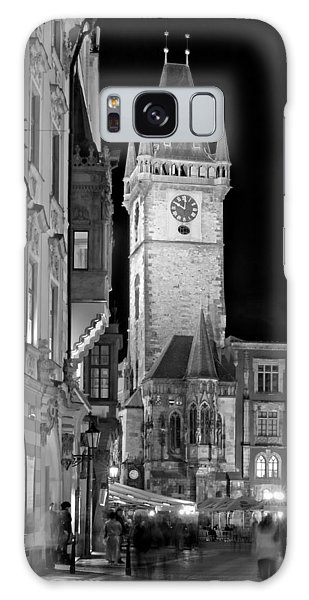 Galaxy Case featuring the photograph Town Hall Clock Tower / Prague by Barry O Carroll