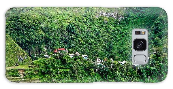 Town In Banaue Rice Terraces Galaxy Case