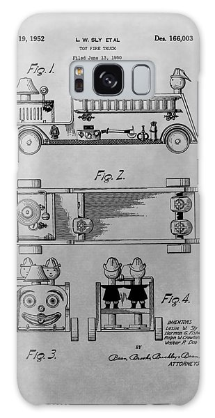 Old Truck Galaxy Case - Toy Fire Engine Patent Drawing by Dan Sproul