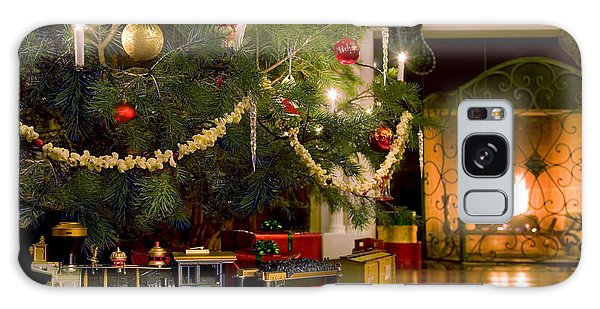 Toy Train Under The Christmas Tree Galaxy Case