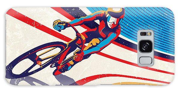 Track Cyclist Galaxy Case