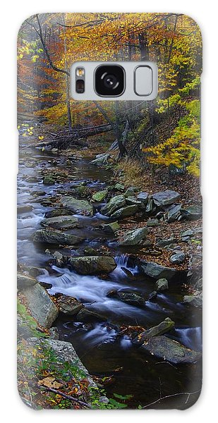 Tracking Color - Big Hunting Creek Catoctin Mountain Park Maryland Autumn Afternoon Galaxy Case