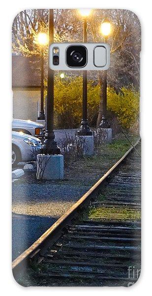 Tracks At Dusk Galaxy Case
