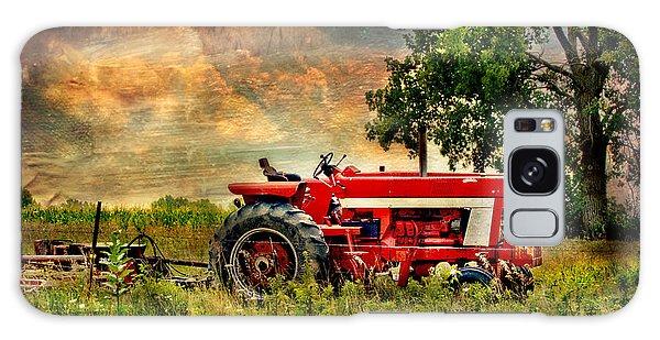 Tractor In Field Galaxy Case