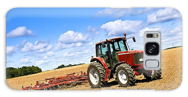 Trailer Galaxy Case - Tractor In Plowed Farm Field by Elena Elisseeva